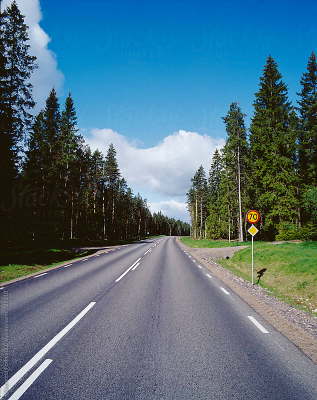Rural Road in Sweden by Raymond Forbes LLC for Stocksy United
