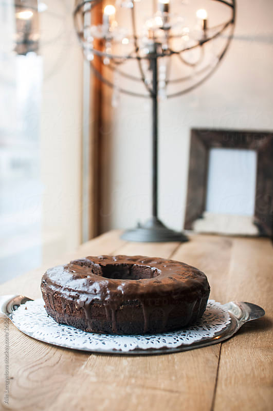 Chocolate Bundt Cake by Alie Lengyelova for Stocksy United