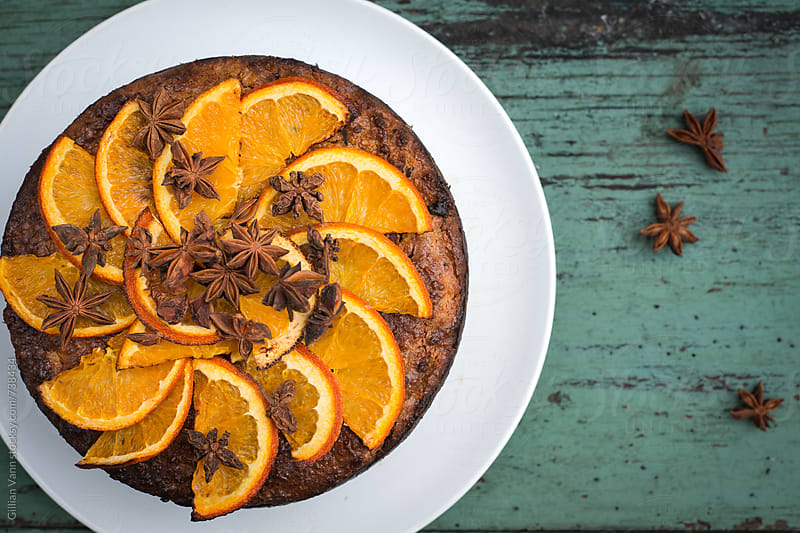 orange and almond cake by Gillian Vann for Stocksy United