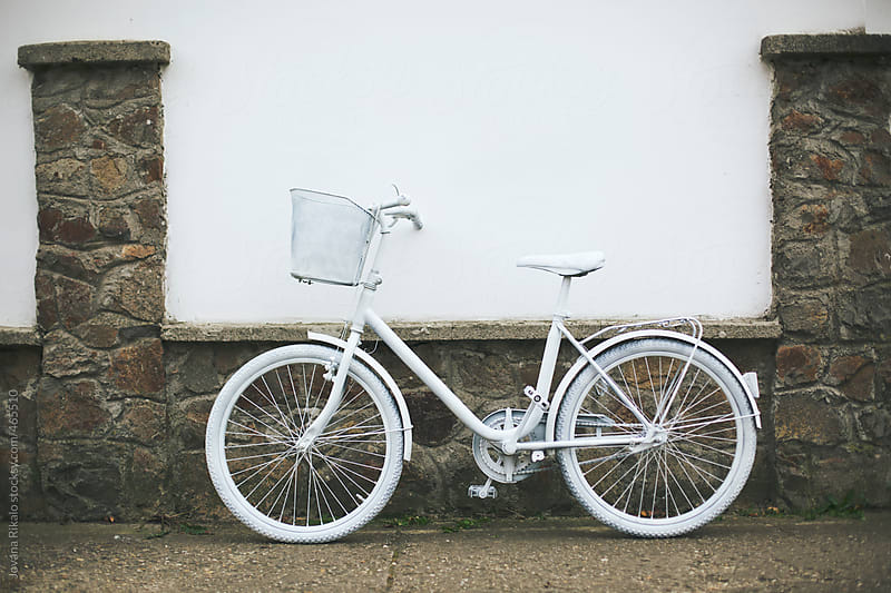 White bicycle by Jovana Rikalo for Stocksy United