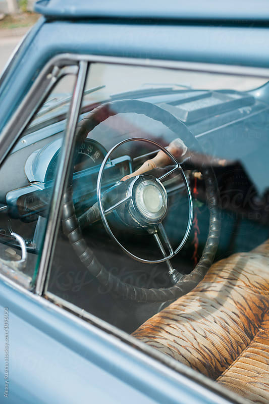 part of vintage car  by Alexey Kuzma for Stocksy United