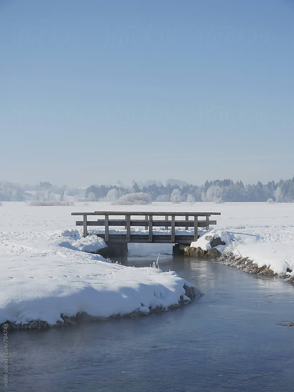 bridge river winter by rolfo for Stocksy United