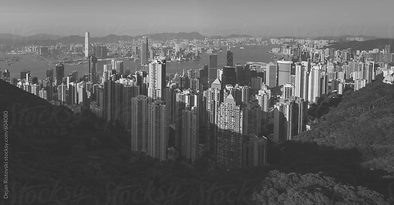 View of Hong Kong from Victoria Peak by Dejan Ristovski for Stocksy United