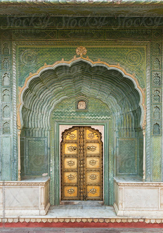 sumptuous door at city palace in jaipur by RG&B Images for Stocksy United