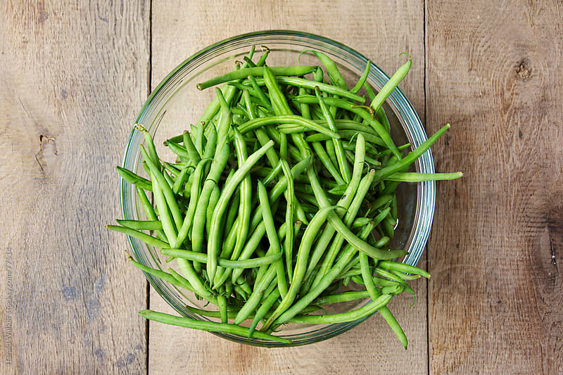 Fresh green beans by Harald Walker for Stocksy United