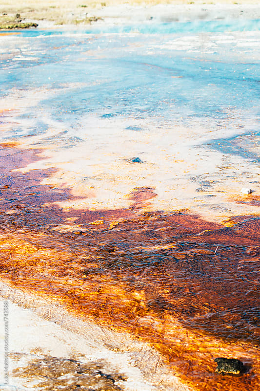 Colorful Sulfur Hot Spring In Yellowstone National Park by Luke Mattson for Stocksy United