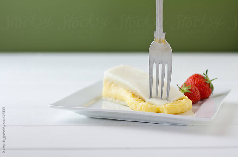 Vanilla Custard Slice, soft and yielding by Kirsty Begg for Stocksy United