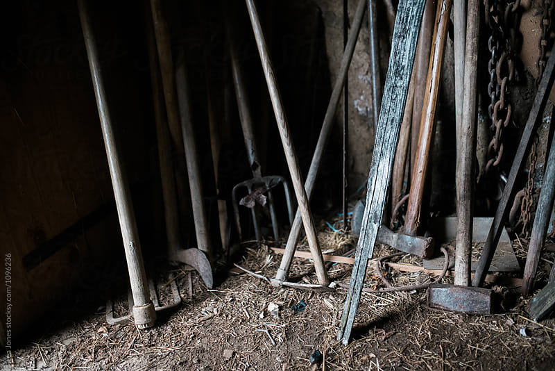 tools in an old barn by Léa Jones for Stocksy United