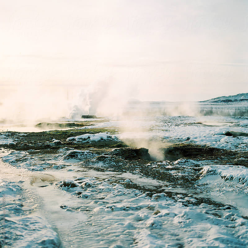 Geothermal park in Iceland by Sam Burton for Stocksy United