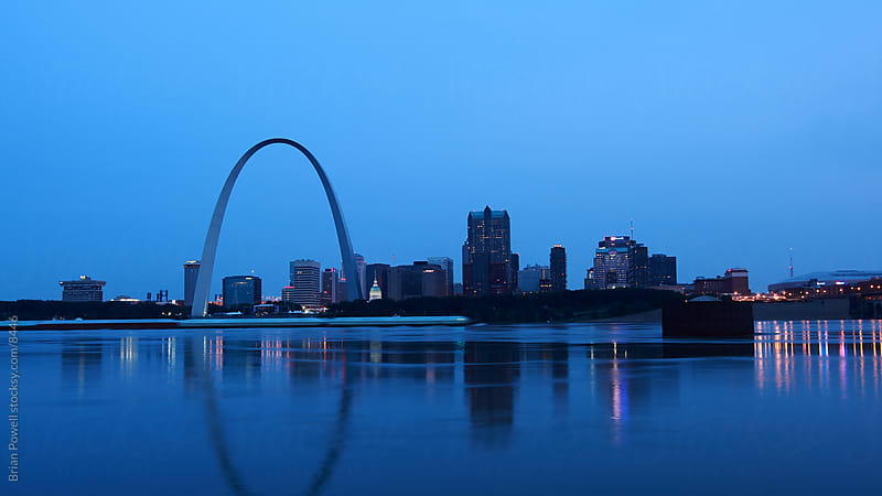St. Louis skyline at dawn by Brian Powell for Stocksy United