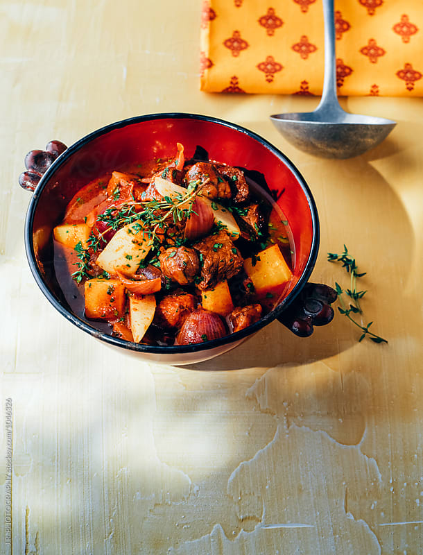 Provencal stew with turnips and beef by J.R. PHOTOGRAPHY for Stocksy United
