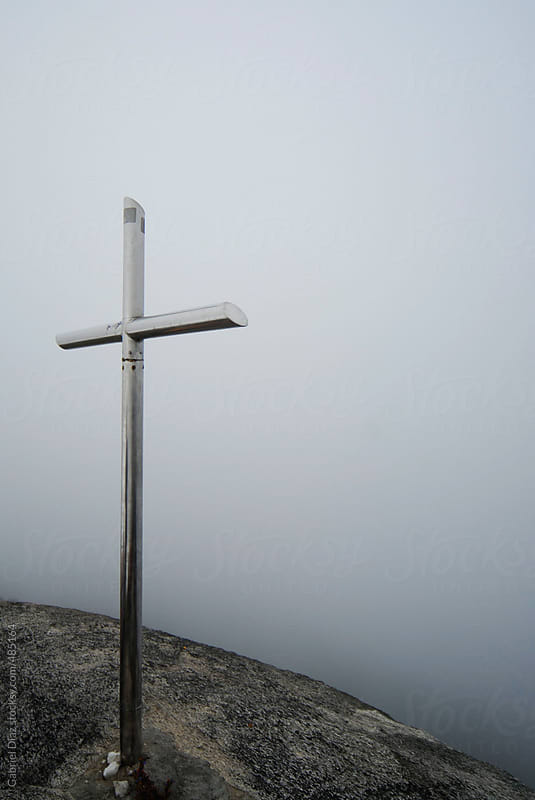 Chistian Cross at the top of a mountain. Venezuela by Gabriel Diaz for Stocksy United