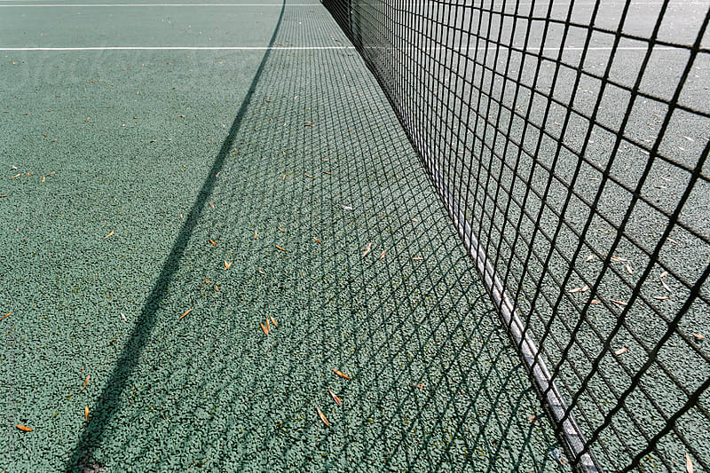 Tennis court net detail by Paul Phillips for Stocksy United