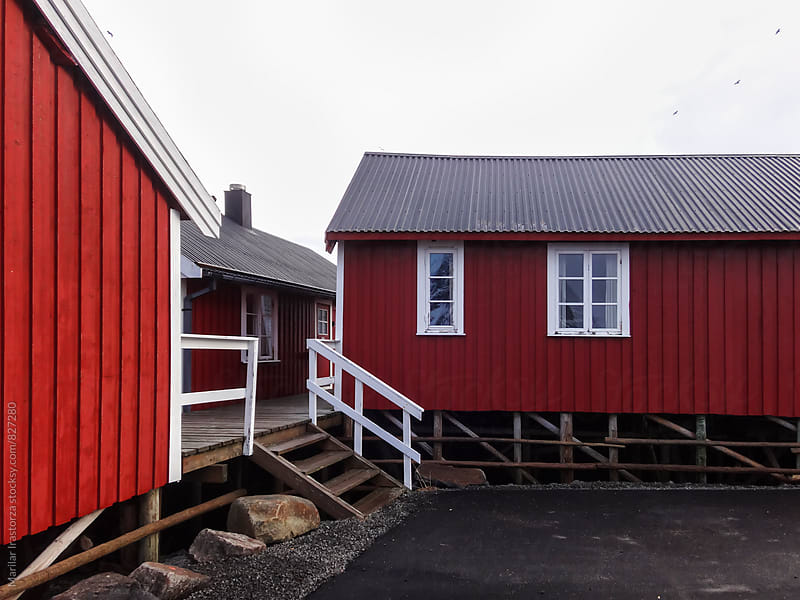 Red cabins by Marilar Irastorza for Stocksy United