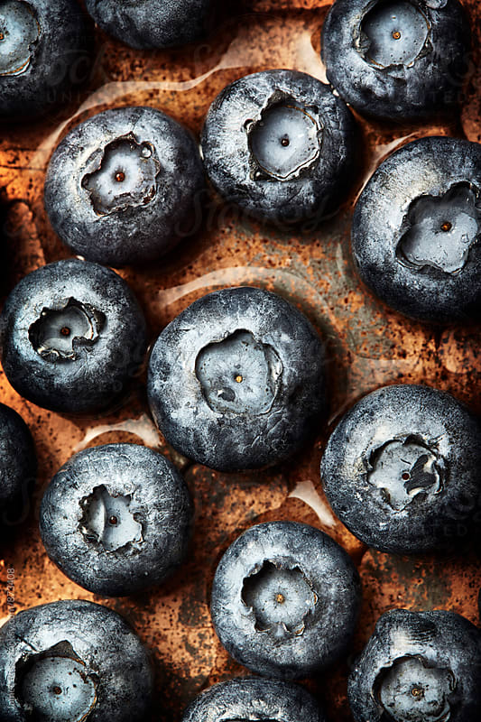 Blueberries in close up by James Ross for Stocksy United