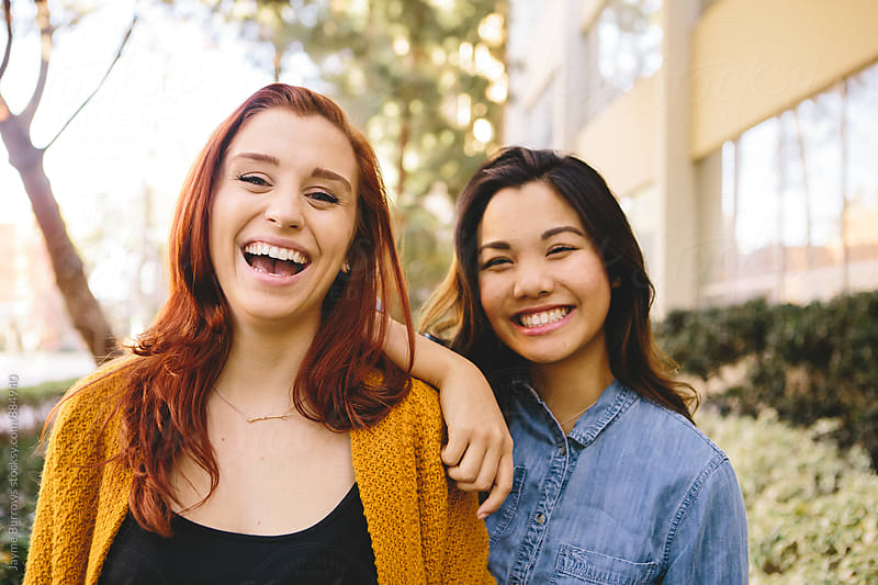 Girlfriends on Campus by Jayme Burrows for Stocksy United