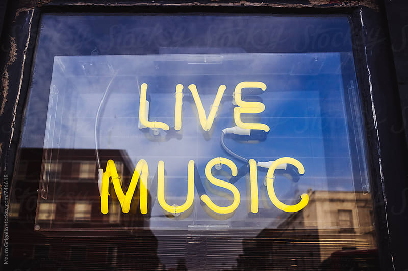Live music sign by Mauro Grigollo for Stocksy United