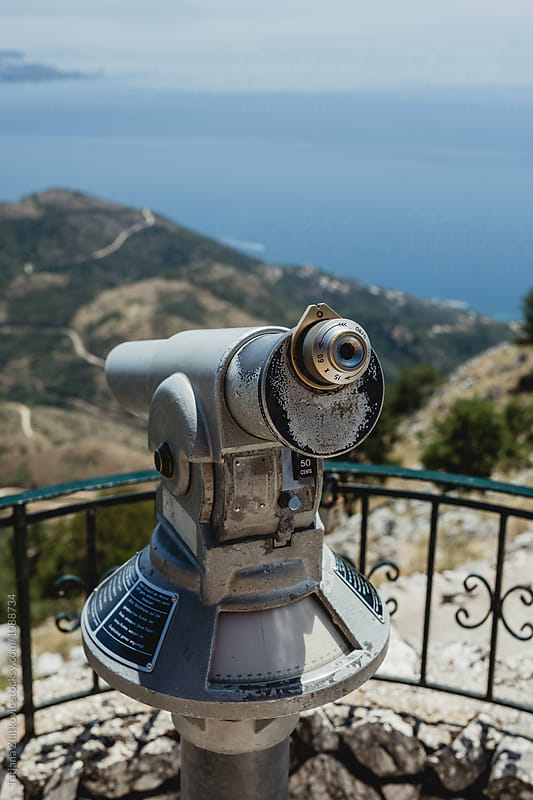 Binoculars on Pantokrator by Tatjana Ristanic for Stocksy United
