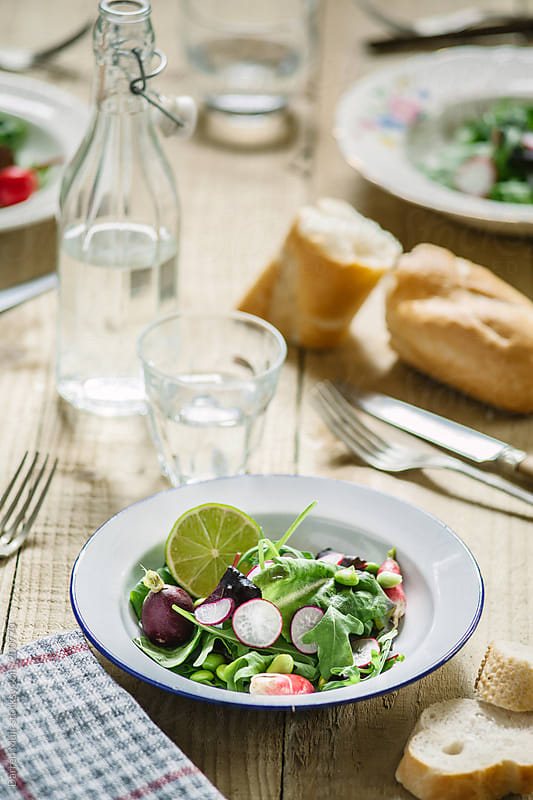 Radish and Edemame bean salad. by Darren Muir for Stocksy United