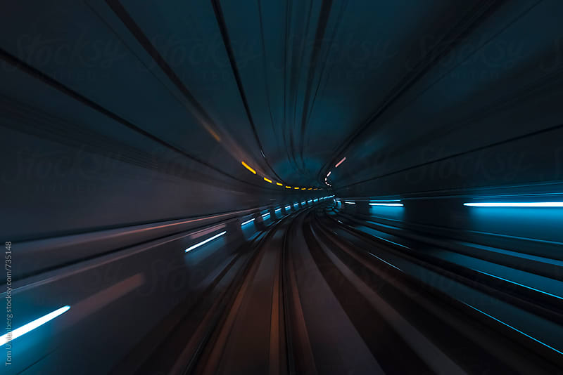 Futuristic Tunnel by Tom Uhlenberg for Stocksy United