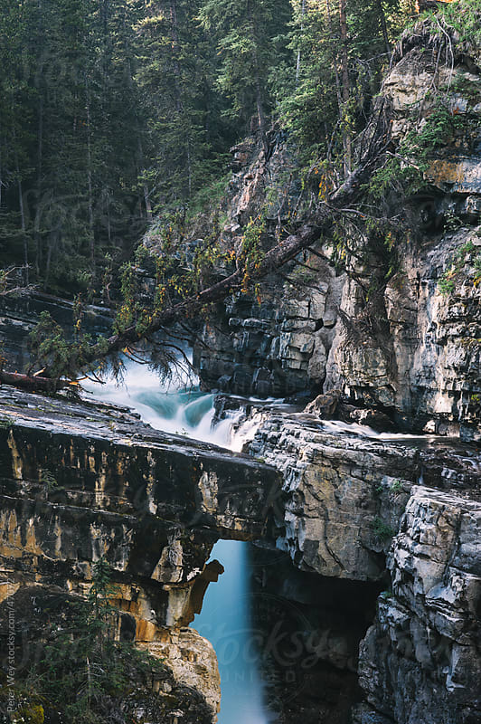 Upper Falls at Johnston Canyon, Banff National Park, Alberta, Canada by Peter Wey for Stocksy United