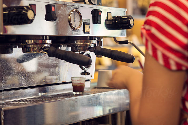 Barista Extracting a Shot of Espresso by VISUALSPECTRUM for Stocksy United