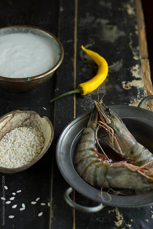 Prawns and rice by Noemi Hauser for Stocksy United