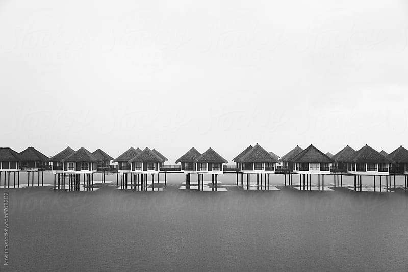 Small Houses Built on the Water by Mosuno for Stocksy United