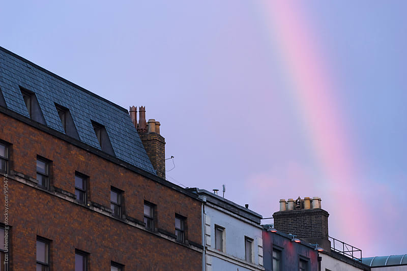 Evening Rainbow over the City by Tom Uhlenberg for Stocksy United