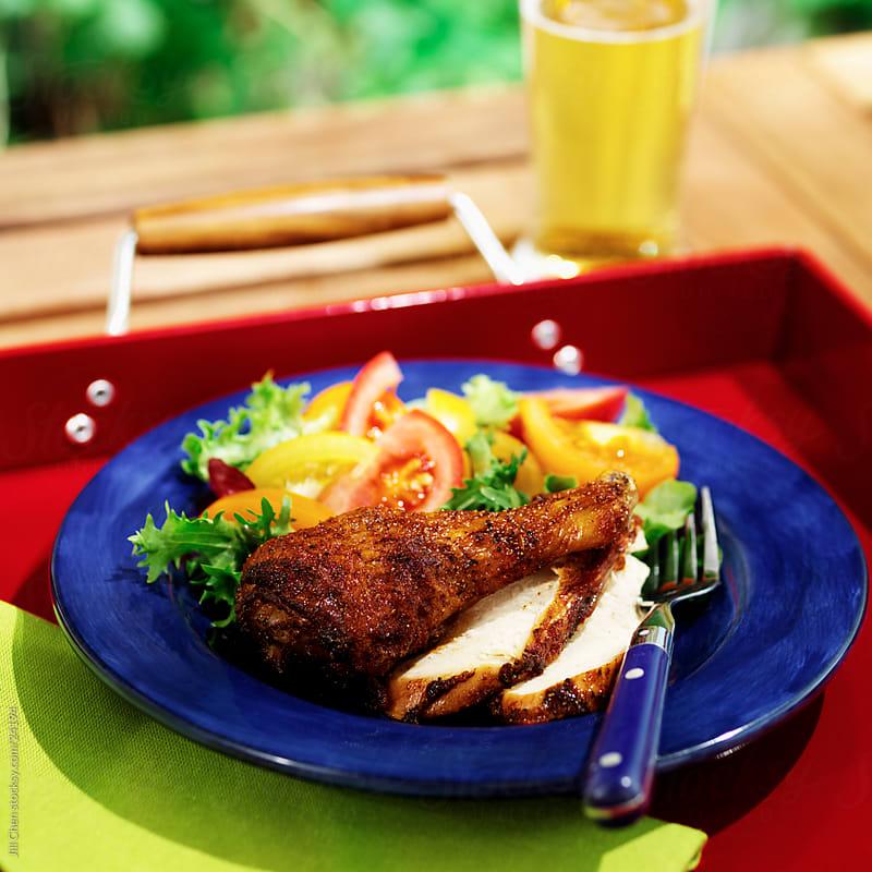 BBQ Chicken by Jill Chen for Stocksy United