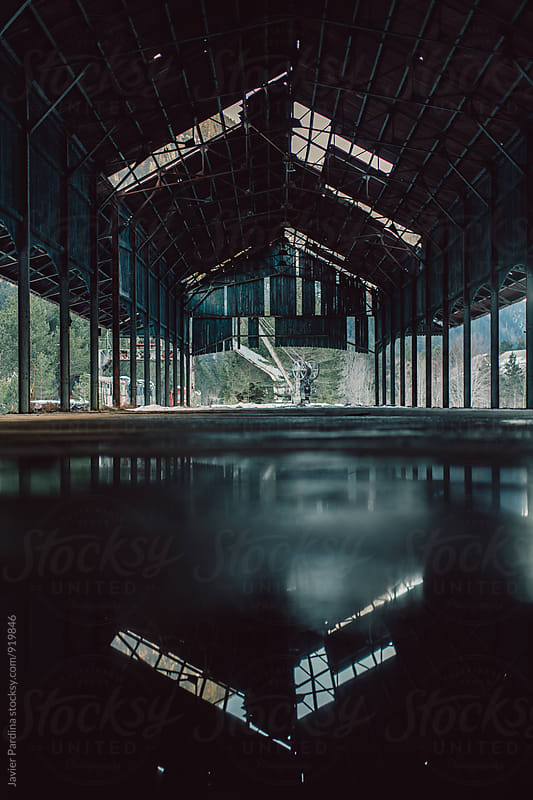 Reflections inside old train station by Javier Pardina for Stocksy United