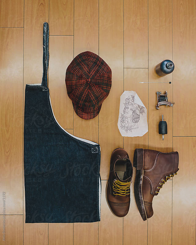 Clothes and tools of a tattoo artist by Ania Boniecka for Stocksy United