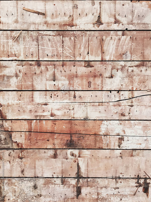 Exposed wood siding from old house wall by Paul Edmondson for Stocksy United