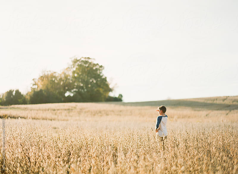 A boy & a field by Marta Locklear for Stocksy United