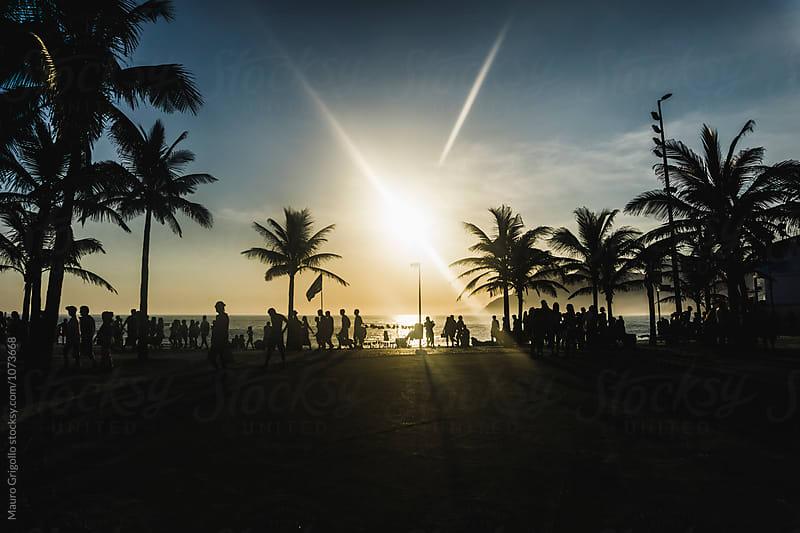 Sunset at Ipanema beach, Rio de Janeiro, Brazil by Mauro Grigollo for Stocksy United
