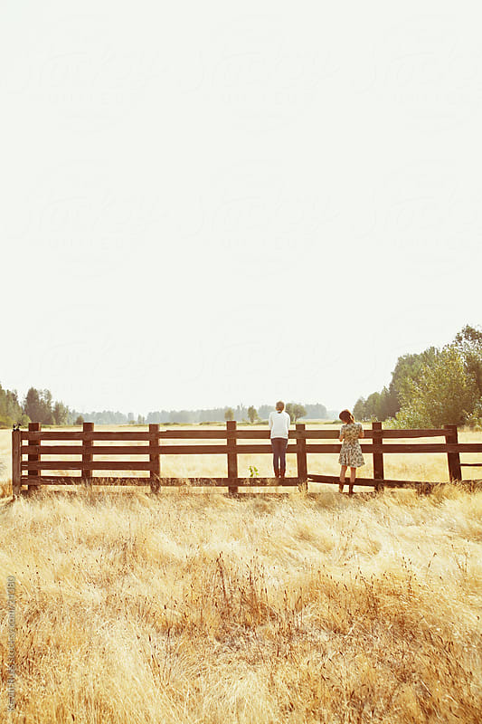Country Fence Girls by Kevin Russ for Stocksy United