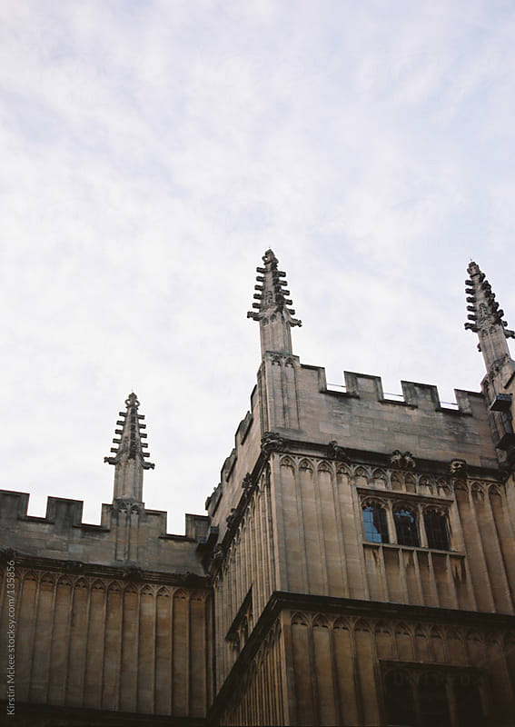 Detail of the exterior of the Bodleian Library, Oxford.  by Kirstin Mckee for Stocksy United