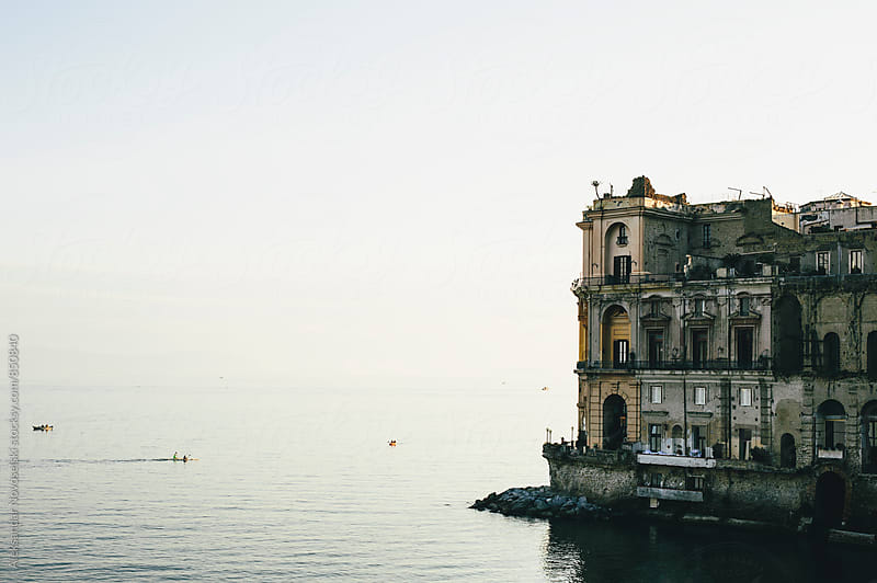 Big mansion by the sea in Naples, Italy by Aleksandar Novoselski for Stocksy United