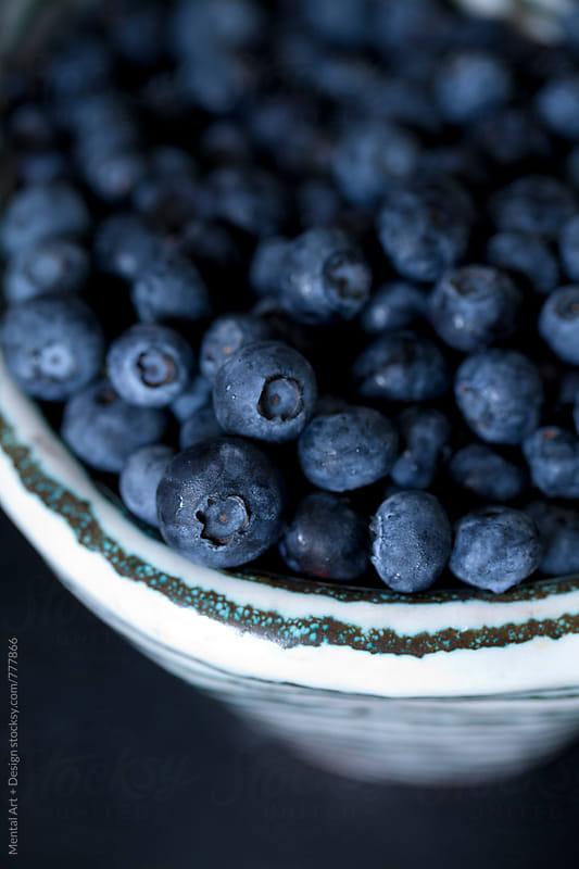 Blueberries by Mental Art + Design for Stocksy United