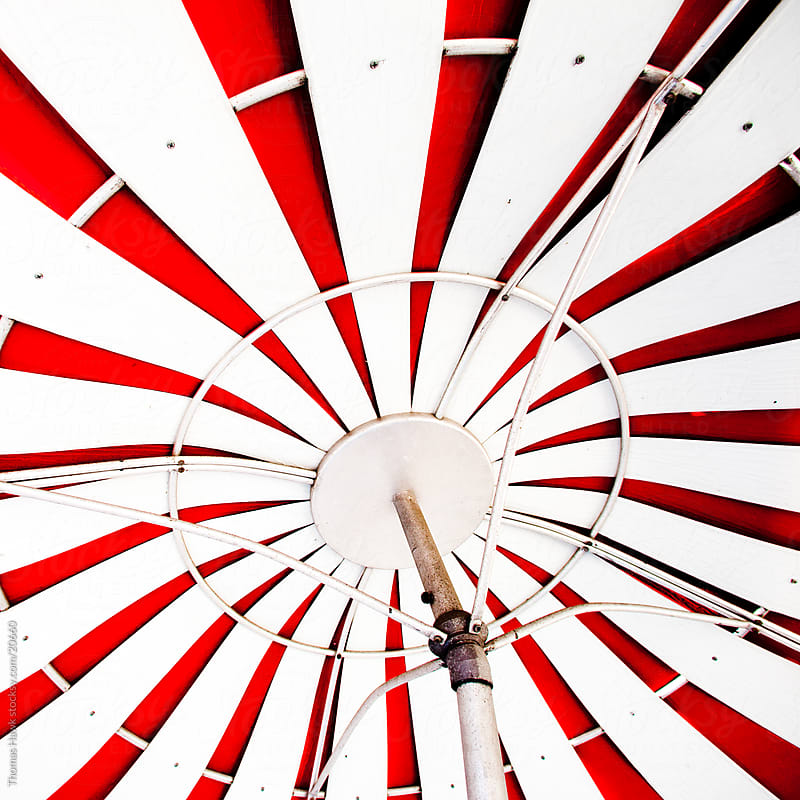 Metal umbrella by Thomas Hawk for Stocksy United