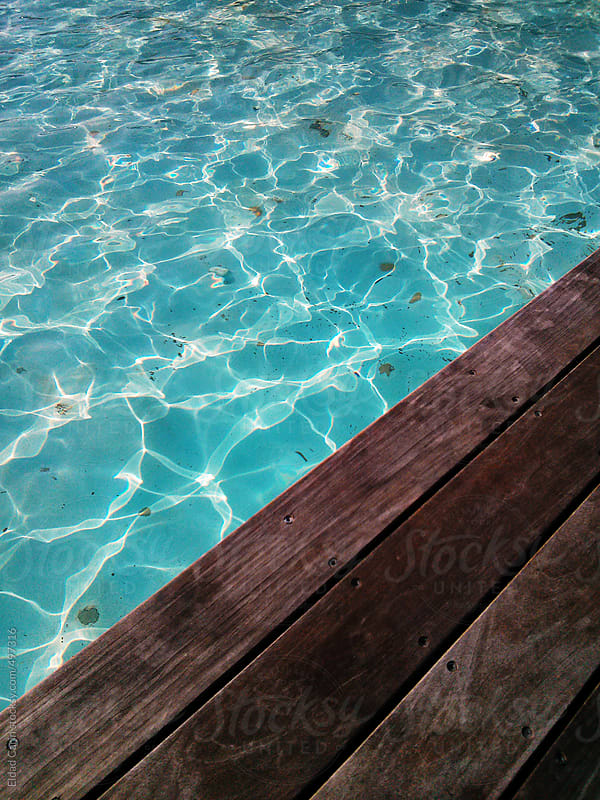 Wooden Deck & Pool by Eldad Carin for Stocksy United