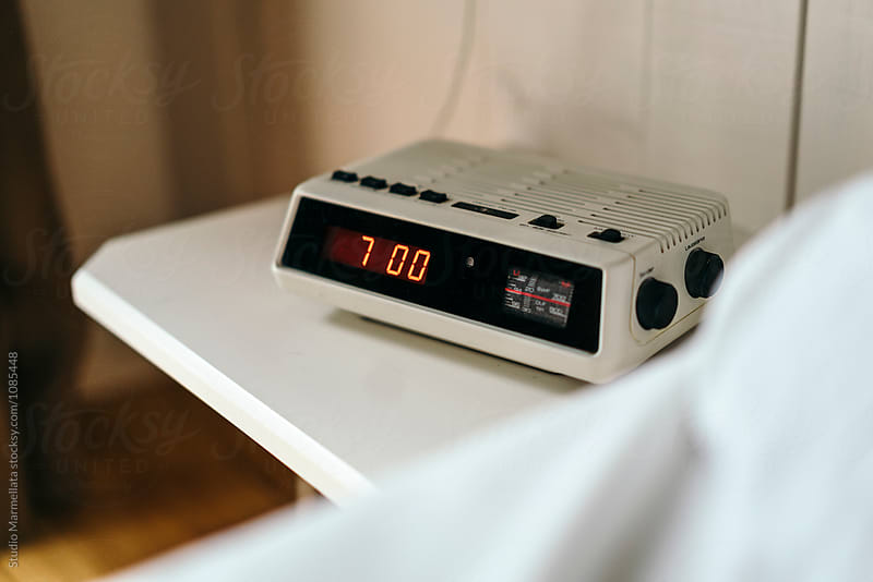 Wake up! vintage alarm clock radio by Juri Pozzi for Stocksy United