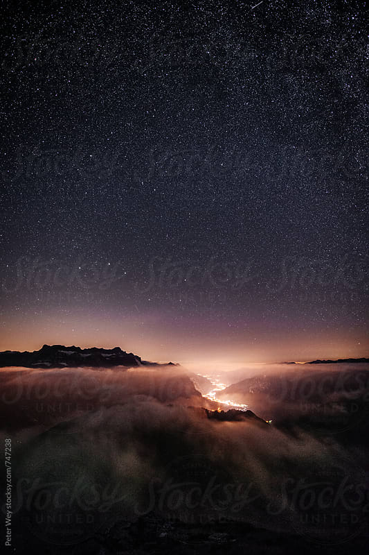 Nightscape from Leglerhütte by Peter Wey for Stocksy United