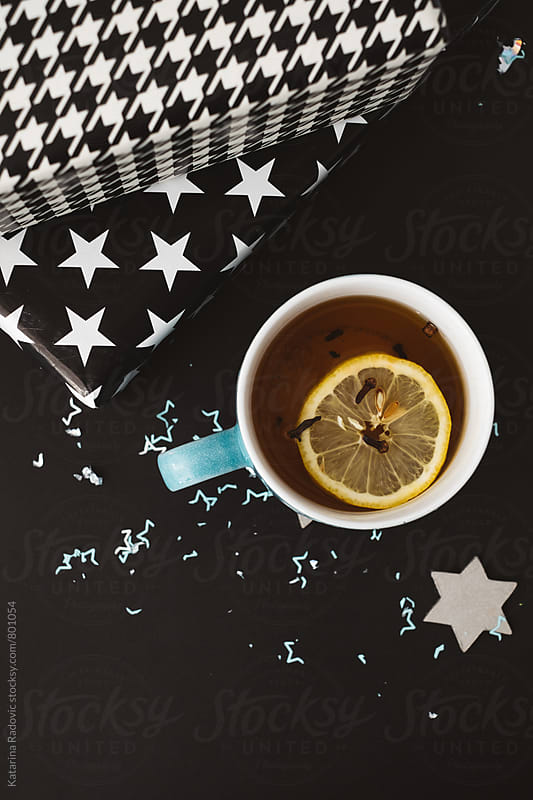 Cup of Tea Next to the Holiday Gifts by Katarina Radovic for Stocksy United