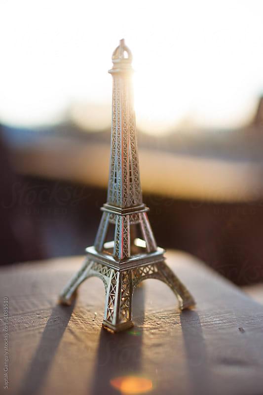 Miniature Eiffel Tower in sunlight by Saptak Ganguly for Stocksy United