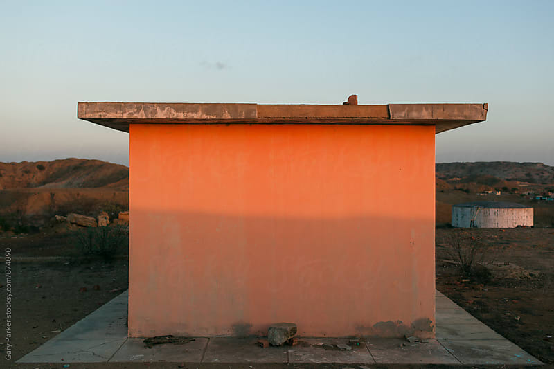 Orange Concrete Building by Gary Parker for Stocksy United