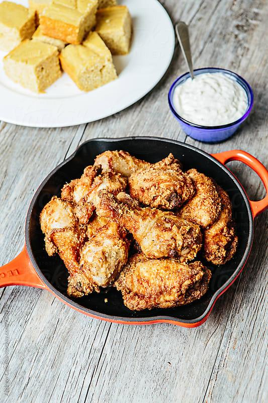 Fried Chicken by Andrew Cebulka for Stocksy United