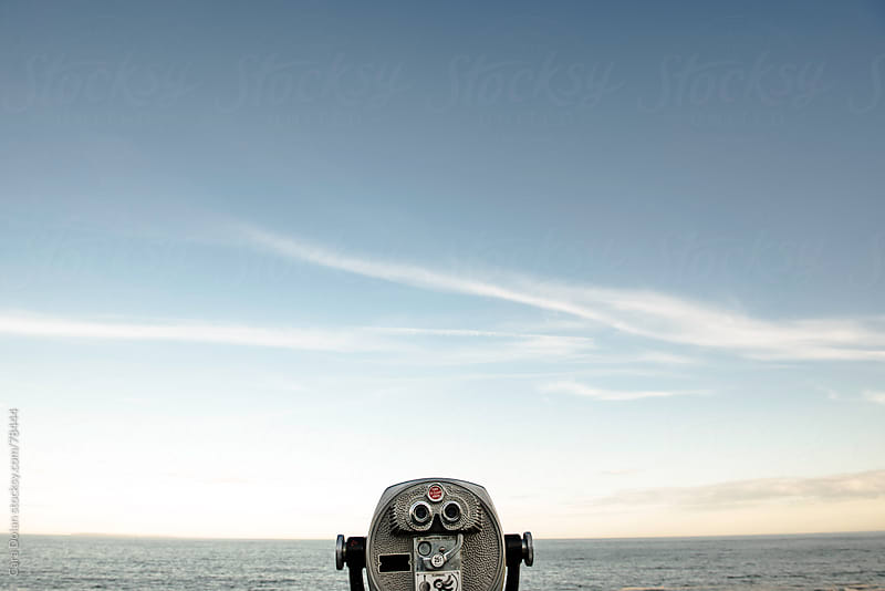 Viewfinder looking out over open ocean by Cara Dolan for Stocksy United
