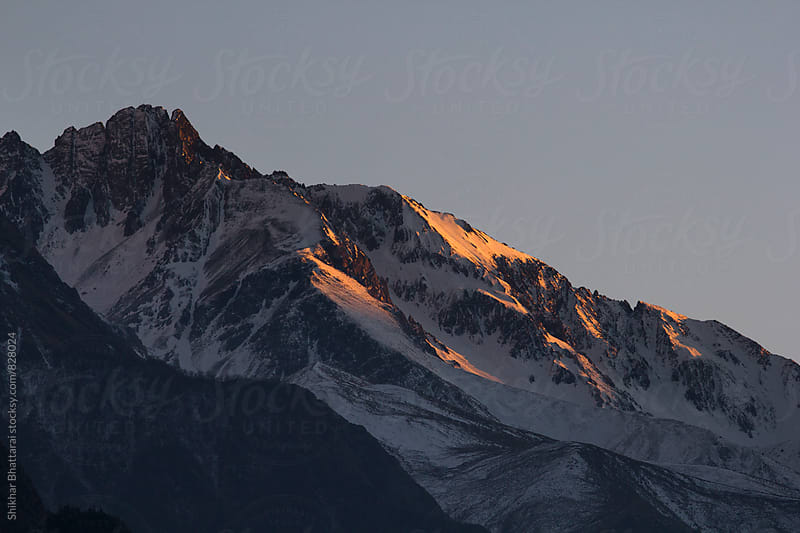 Sunset in the himalayan mountains. by Shikhar Bhattarai for Stocksy United