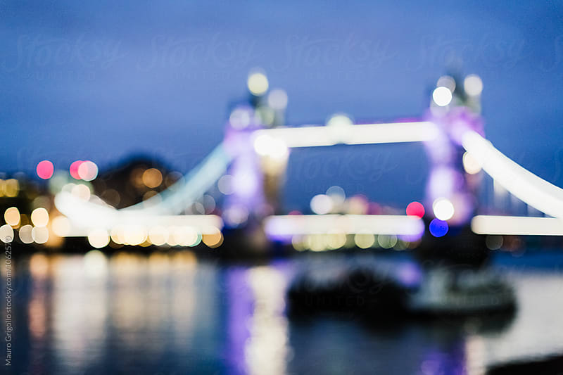 Blurred image of Tower Bridge in London by Mauro Grigollo for Stocksy United